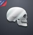 Skull icon symbol 3D style Trendy modern design vector image