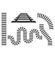 train railway road rails constructor elements vector image