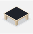 wooden coffee table - isometric vector image