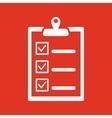The checklist icon Clipboard symbol Flat vector image