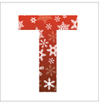 T Letter vector image vector image