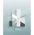 Skyscraper 3d paper design vector image vector image