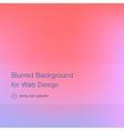Elegant pink blurred background for web design vector image vector image