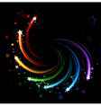 colored sparks vector image