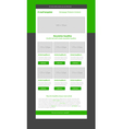 Newsletter green template with business style vector image