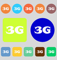 3G sign icon Mobile telecommunications technology vector image