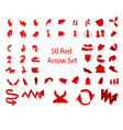 Arrow set 50 vector image