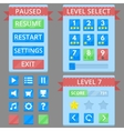Colorful game GUI vector image