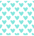 Hand drawn dotted hearts seamless pattern vector image