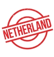 Netherland rubber stamp vector image