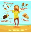 Rastafarian Character vector image