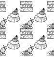 sweet dessert black and white vector image