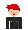 Motorcyclist avatar man icon vector image