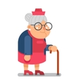 Granny Old Lady Character Cartoon Flat Design vector image