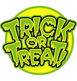 Trick or Treat logo vector image vector image