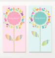 Baby shower cards vector image vector image