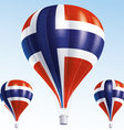 Hot balloons painted as Norway flag vector image