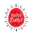 Happy Easter logo design template holiday vector image