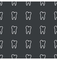 Straight black tooth pattern vector image
