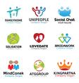 Couple Person Symbol Design vector image