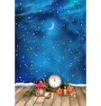 Christmas Night Watercolor Background vector image