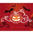 halloween with pumpkin vector image vector image