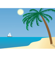 sailboat in the distance vector image