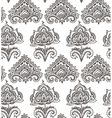 seamless pattern with hand drawn henna floral vector image