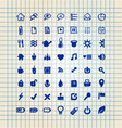 set of hand drawn icons vector image vector image