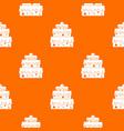 big cake pattern seamless vector image