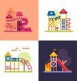 Playground for Kids Set of four colored flat vector image