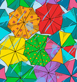 Top of umbrellas seamless pattern vector image