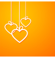 heart paper orange vector image vector image