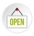 Open door sign icon flat style vector image