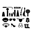 fetish sign Sex icons for BDSM Sextoys for xxx vector image