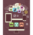 Gadgets Icons Network 1 vector image vector image