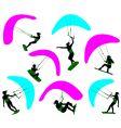kitesurfing vector image vector image