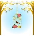 bird cage vector image