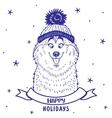husky holiday vector image vector image