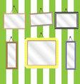 Set picture frames vector image