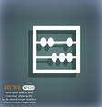Abacus icon On the blue-green abstract background vector image