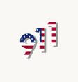 9 11 patriot day september 11 2001 vector image