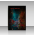 Abstract brochure flyer design in geometrical poly vector image