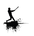Baseball grunge background vector image