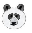 Cute face panda bear animal cartoon vector image