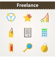 Flat icons for freelance and business vector image