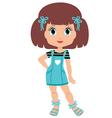 Girl cartoon vector image