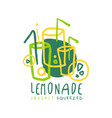 lemonade logo template original design colorful vector image