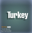 Turkey icon On the blue-green abstract background vector image