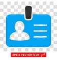 Person Badge Icon vector image